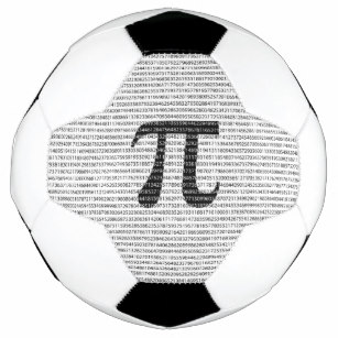A soccer ball with pi on it