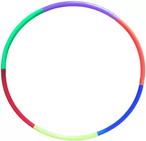 A multicolored hula hoop
