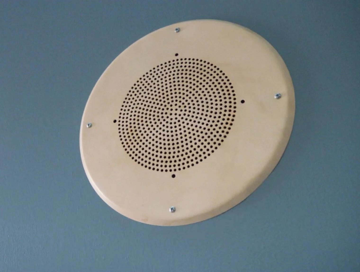 An intercom speaker