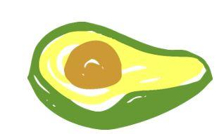 Drawing of an avocado