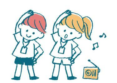 Two schoolchildren dancing with a jukebox