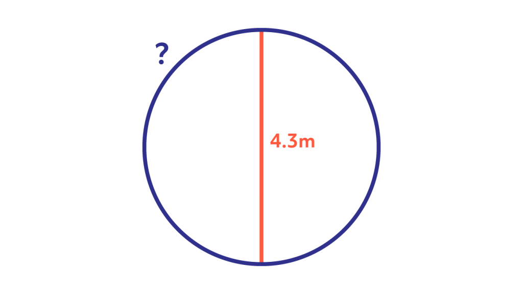 A circle with a diameter of 4.3 meters