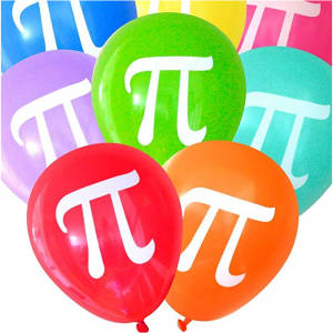 Balloons with a pi symbol on them