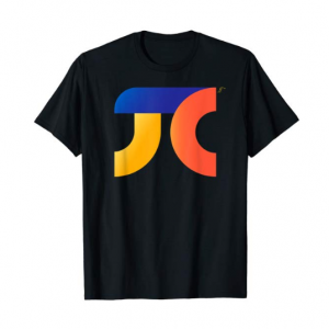 A black t-shirt with a colorful pi symbol on it