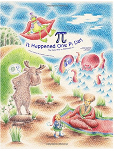 "The book cover for the ""It Happened One Pi Day"" children's book"
