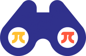 Binoculars with pi symbols in them