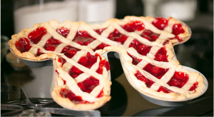 A pie in the shape of the pi symbol