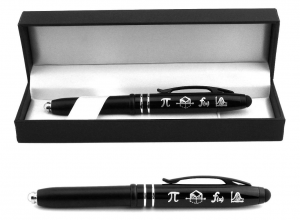A pen with pi symbols on them
