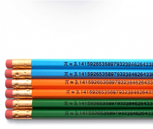 Pi symbols and the numbers of pi on pencils