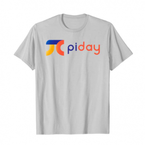 The Pi Day logo on a t-shirt
