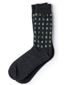 The numbers of pi on socks