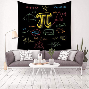 A pi symbol tapestry