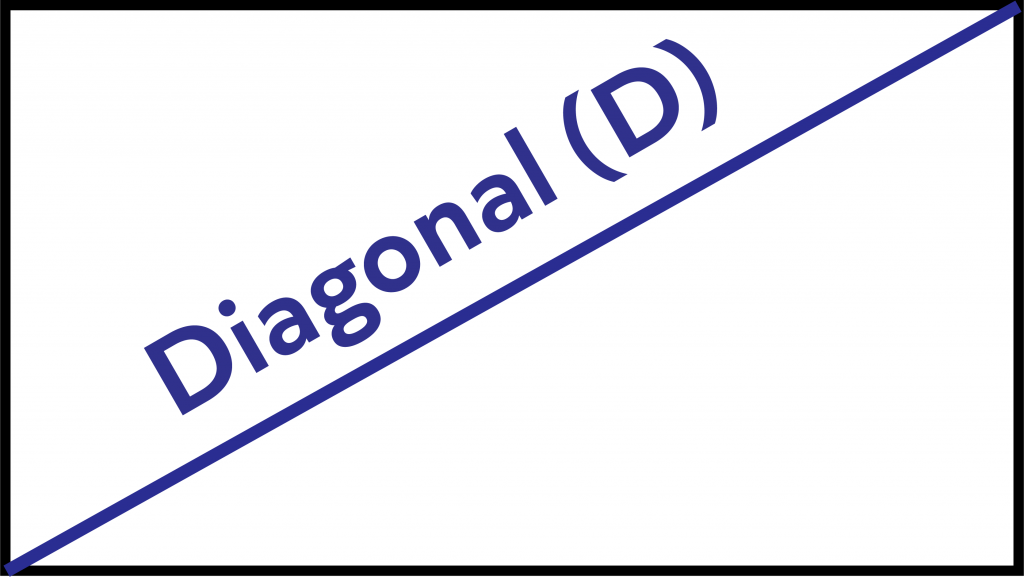 The diagonal of a rectangle