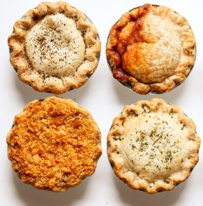 Four pies
