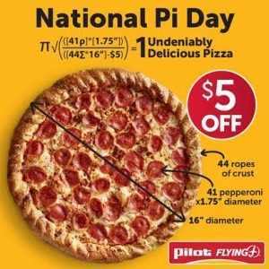 Pi Day Pizza Deal