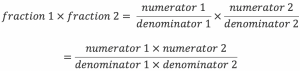 How to multiply two fractions