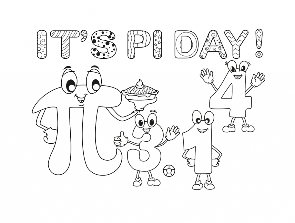 it's pi day coloring page